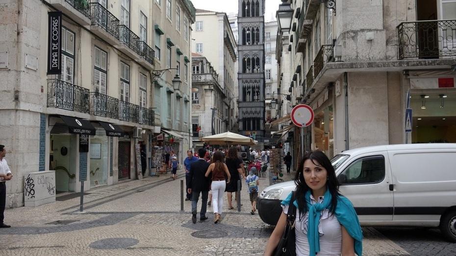 Funicularul Santa Justa - Lisabona-Portugalia