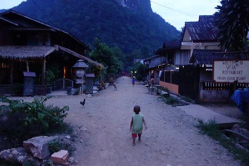 strada principala in Muang Ngoi