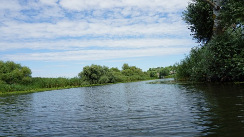 cu barca in delta dunarii